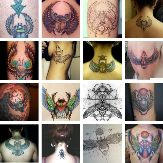 Татуировки с жуками